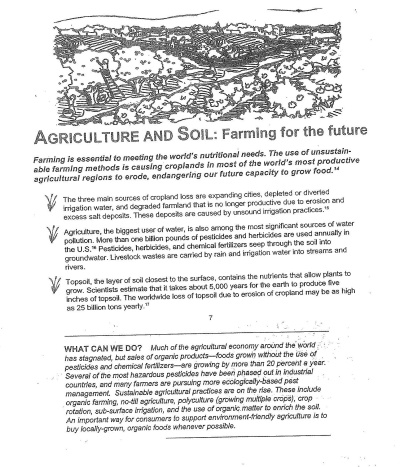 Agriculture & Soil